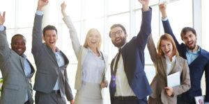 Bedrijfsyoga en blije medewekers